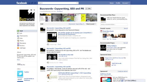 Buzzwords' Facebook page