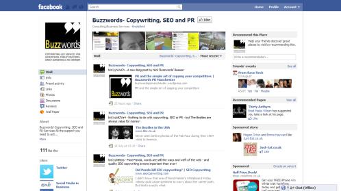 Buzzwords' Facebook page